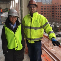 Mentor and Mentee at a job site