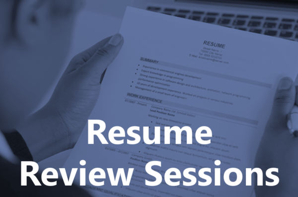 resume review sessions