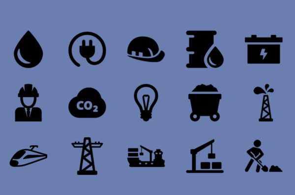 symbols representing industries